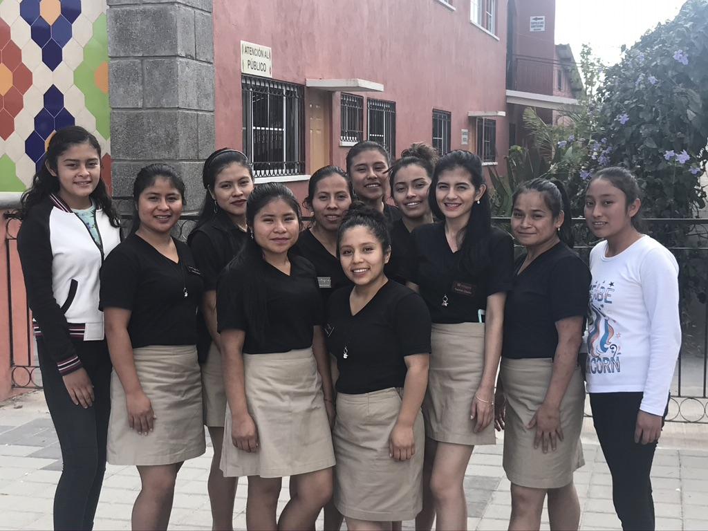 Las Mujere Fuertes and Apprentices L-R: Fernanda, Sucely, Elida, Erica, Maria, Rosaura, Anna, Emili, Yasmin, Josselin Carolina, Blanca
